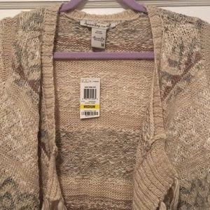 American Rag Sweaters - American rag fringe cardigan